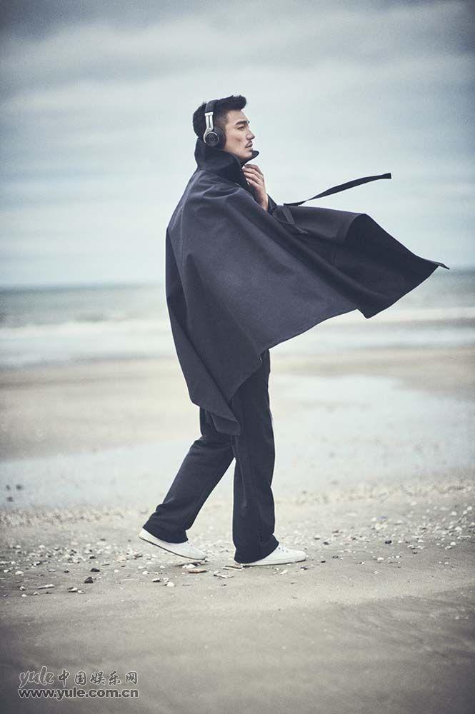 胡兵海滩大片-斗篷:海边漫步