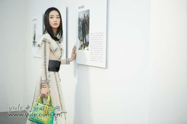 6 李梦上海出席品牌活动 白纱长裙造型如梦似幻